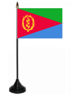 Eritrea Desk / Table Flag with plastic stand and base.